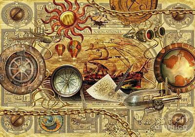 Google Mixed Media - Navigationes by Mo T