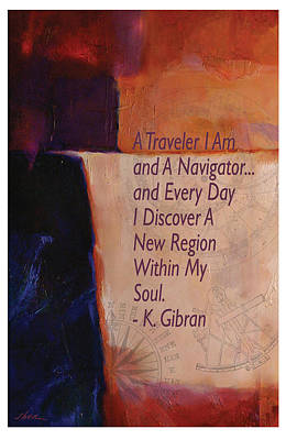 Kahlil Gibran Painting - Navigator Of The Soul By Gibran by Shawn Shea