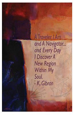 Navigator Of The Soul By Gibran Art Print