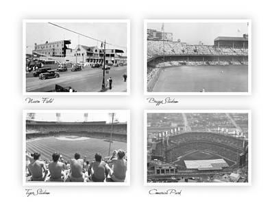Navin Field Briggs Tiger Stadium Comerica Park Art Print by John Farr