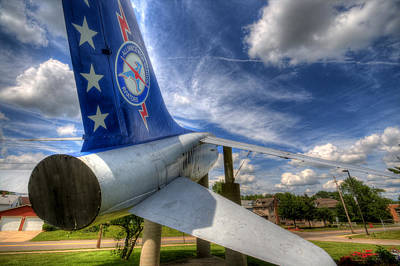 Navy A-7 Fighter Static Display Art Print