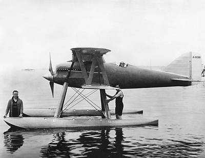 Cockpit Photograph - Navy Curtis Seaplane Racer by Underwood Archives