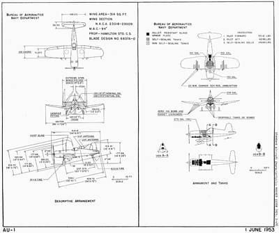 Photograph - Navy Department Vought F4u Corsair Schematic Diagram by John King