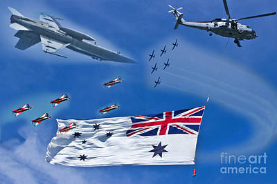 Photograph - Navy Fleet Review Air Show by Miroslava Jurcik