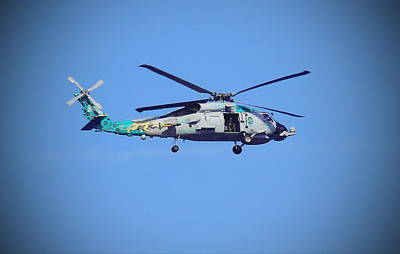 Navy Jaguar Helicopter Art Print