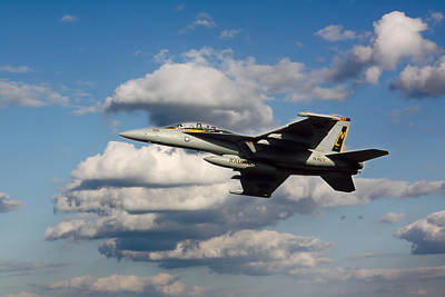 Photograph - Navy Jet by Steve McKinzie