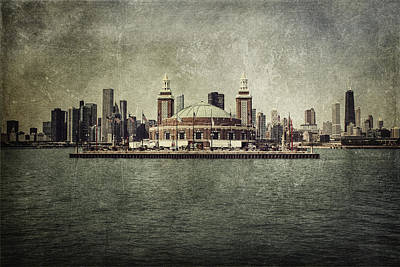 Willis Tower Photograph - Navy Pier by Andrew Paranavitana