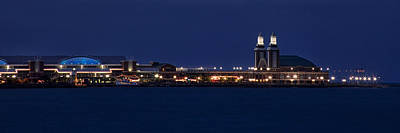 Colors Photograph - Navy Pier At Twilight by Andrew Soundarajan