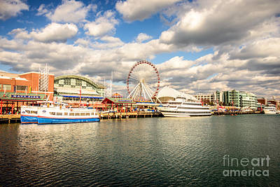 Wheel Photograph - Navy Pier Chicago Photo by Paul Velgos