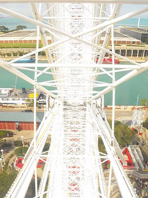 Photograph - Navy Pier Ferris Wheel by Richelle Munzon