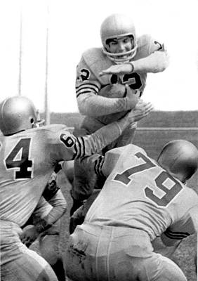 Football Photograph - Navy Quarterback Staubach by Underwood Archives