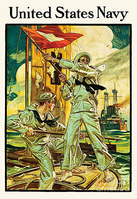 World War One Digital Art - Navy Recruiting 1910 by The Realm  Endless