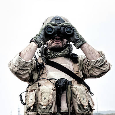 Photograph - Navy Seal Scout Looking by Oleg Zabielin