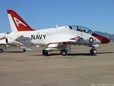 Bi-cycle Photograph - Navy T-45 Goshawk by Steven Parker