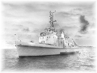 Navy Torpedo Weapons Recovery Ship Print by Donnie Freeman