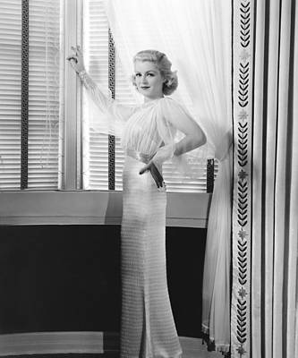 Navy Wife, Claire Trevor In Formal Art Print by Everett
