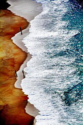 Pyrography - Nazare Beach by Selke Boris