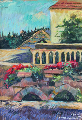 Painting - Nazareth Rooftops by Linda Novick
