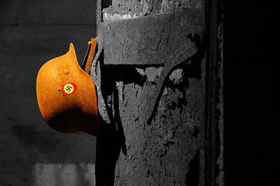 Nazi Helmet Near Trieste Original by Aleksandar Hajdukovic
