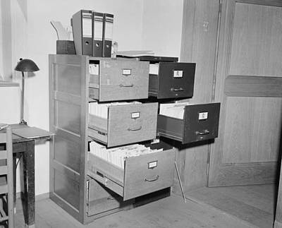 File Cabinets Photograph - Nazi Racist Intellectual Alfred by Everett