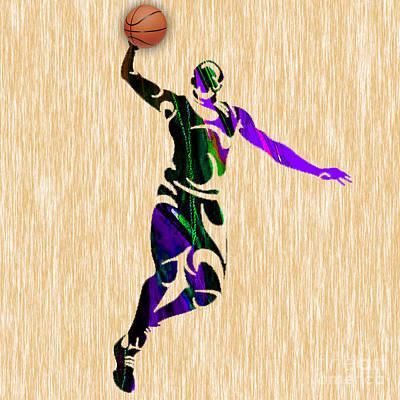 Basketball Mixed Media - Nba Basketball Player by Marvin Blaine