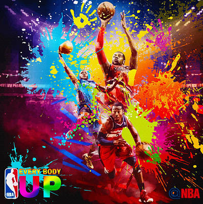 Nba Season Poster - Part 1 Original by Don Kuing