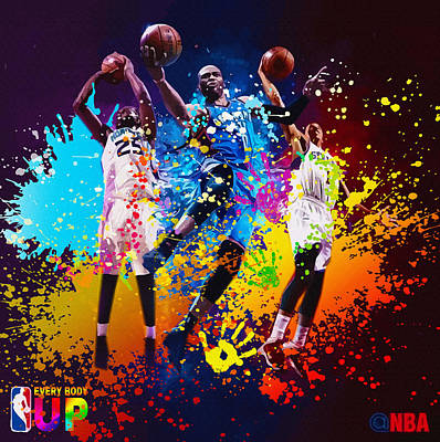 Nba Season Poster - Part 4 Original by Don Kuing