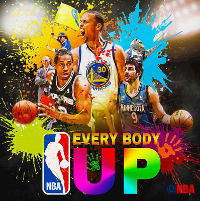Nba Season Poster - Part 5 Original by Don Kuing