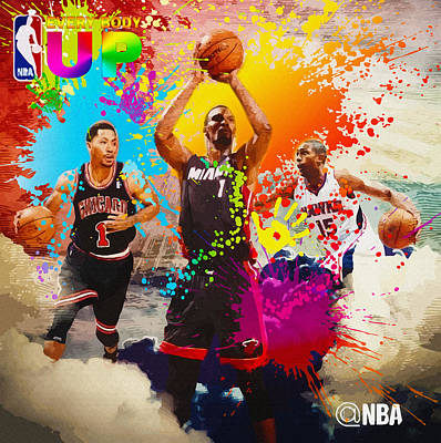 Nba Season Poster - Part 6 Original by Don Kuing