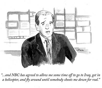 Helicopter Drawing - Nbc Has Agreed To Allow Me Some Time Off To Go by Emily Flake
