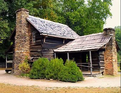 Nc Log Cabin Home Print by Chris Flees