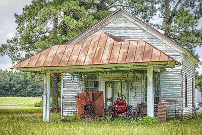 Photograph - N.c. Tractor Shed - Photography By Jo Ann Tomaselli by Jo Ann Tomaselli