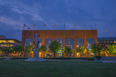 Photograph - Ncaa Hall Of Champions Dusk by David Haskett