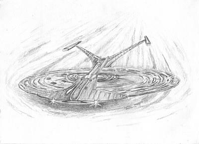 Ncc-1701-j Enterprise Art Print by Michael Penny