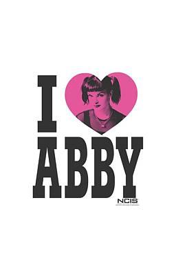 Ncis Digital Art - Ncis - I Heart Abby by Brand A