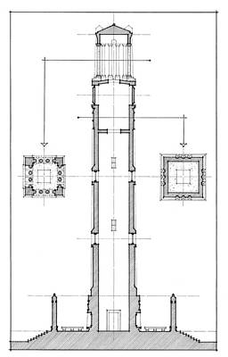 Drawing - Ncsu Memorial Bell Tower by Calvin Durham