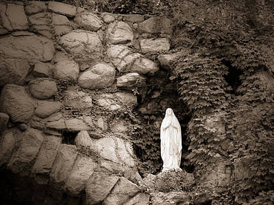 Mixed Media - Nd Grotto Virgin Mary by Connie Dye