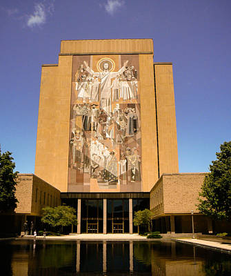 Nd Touchdown Jesus Art Print