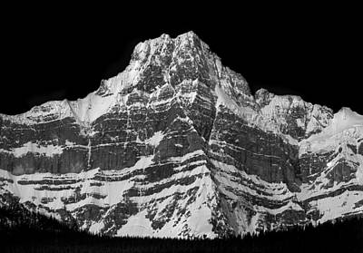 Photograph - 1m3674-bw-h-ne Face Howse Peak by Ed  Cooper Photography