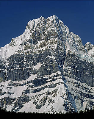 Photograph - 1m3645-ne Face Howse Peak-v by Ed  Cooper Photography