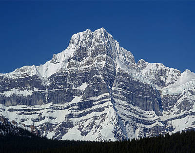 Photograph - 1m3644-ne Face Of Howse Peak by Ed  Cooper Photography
