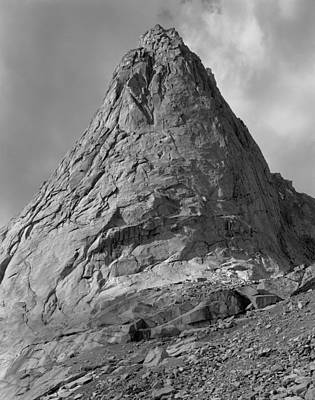Photograph - 109647-bw-ne Face Pingora Peak, Wind Rivers by Ed  Cooper Photography