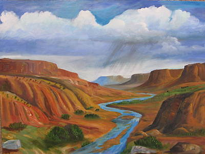Chama River Painting - Near Abiqui by David Delaney
