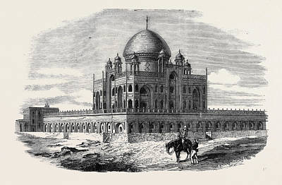 Near Delhi Tomb Of The Emperor Humayon Where The Two Sons Art Print by English School