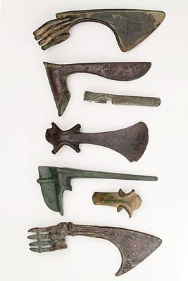 Metal Work Photograph - Near East Bronze Age Axes by Paul D Stewart