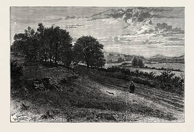 Clergy Drawing - Near Eversheds Rough, Scene Of The Fatal Accident by English School