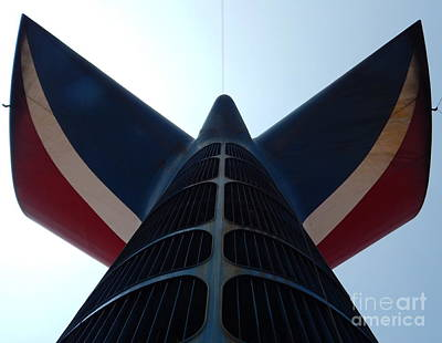 Photograph - Near Far Where Ever You Are Carnival Cruise Line Smoke Stack In New Orleans Louisiana by Michael Hoard