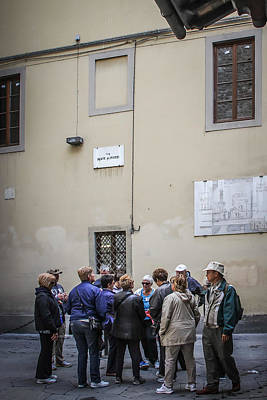 Photograph - Near Home Of Dante In Florence - May 31 by Dwight Theall