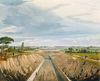 Cutting Drawing - Near Liverpool, Looking Towards by Thomas Talbot Bury