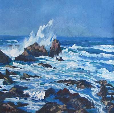 Stockton Painting - Near Pt. Joe by Vanessa Hadady BFA MA